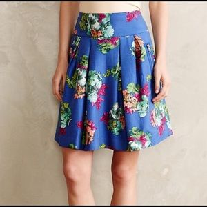 Anthropologie Maeve floral skirt size 16